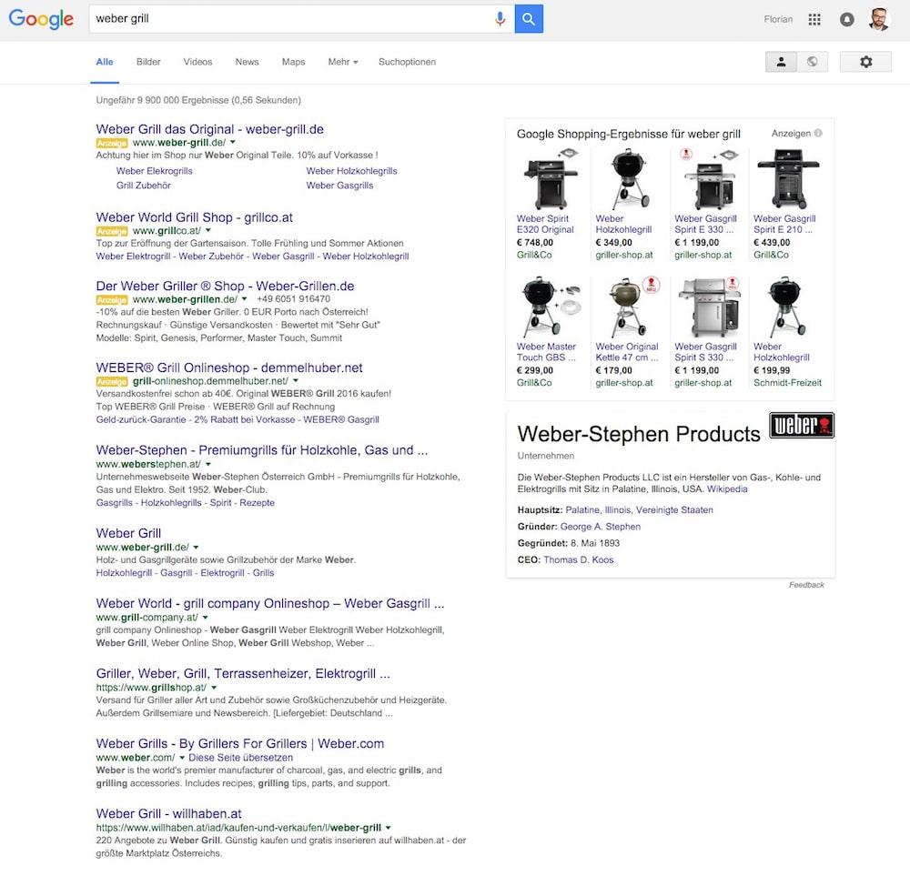 google-serp-weber-grill