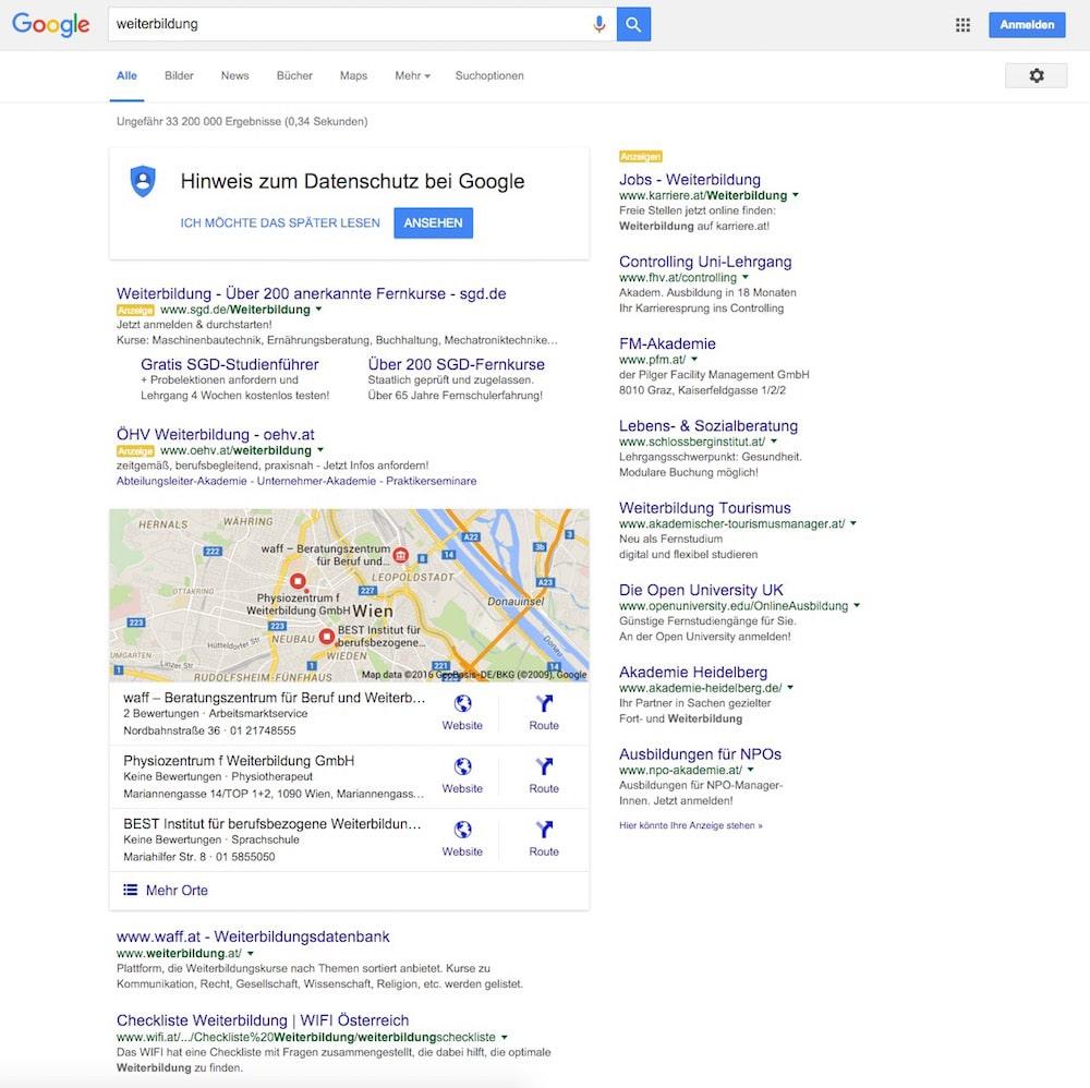 google-serp-weiterbildung-ausgeloggt