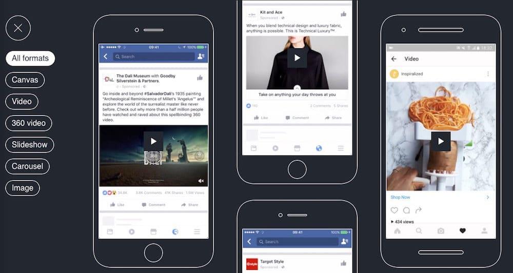 Facebook Creative Hub Ad Beispiele