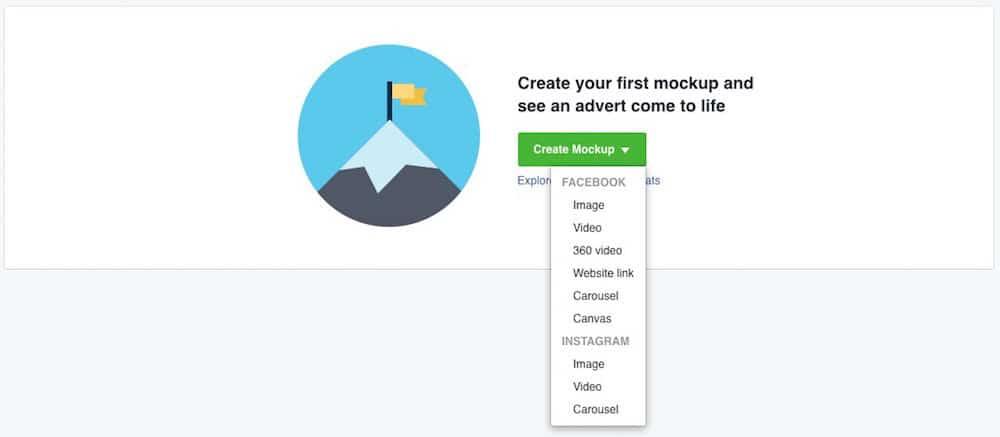 Facebook Creative Hub Mockup erstellen