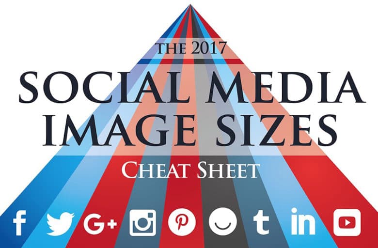 social media image sizes 2017 infographic template
