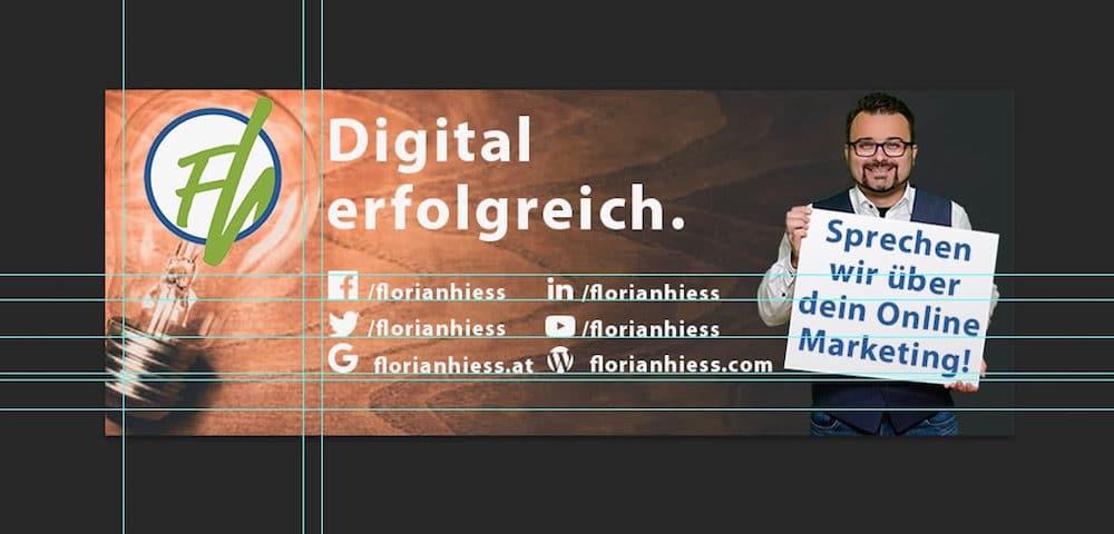 Social Media Header Vorlage - Florian Hieß